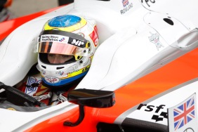 2015 GP2 Series Round 5.  Silverstone, Northamptonshire, England. Sunday 5 July 2015. Oliver Rowland (GBR, MP Motorsport)  Photo:  Sam Bloxham/GP2 Media Service ref: Digital Image _G7C1794